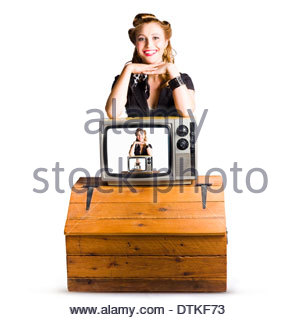 1960s look pin up girl in an american diner stock photo royalty free image 105790012 alamy. Black Bedroom Furniture Sets. Home Design Ideas