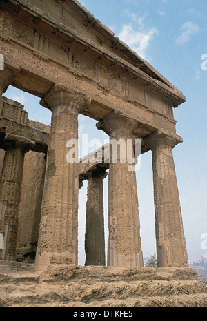 Italy. Sicily. Agrigento. Valley of the Temples. Temple of Concordia. 5th century BC. Doric style. - Stock Photo