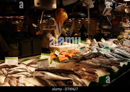 Fish seller 3 - Stock Photo