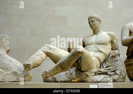 Elgin Marbles Greek/Roman artifacts at the British Museum, London, England - Stock Photo