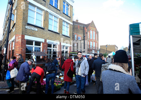 united kingdom east london columbia road sunday flower market - Stock Photo