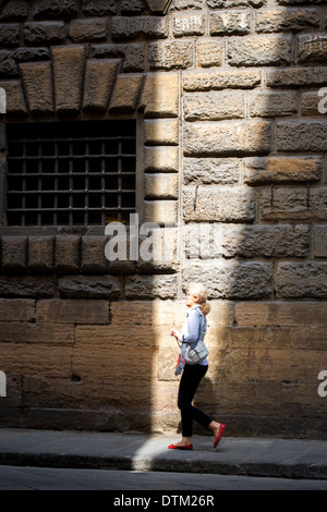 The beautiful, romantic, cultural, architectural and young florence in italy - Stock Photo