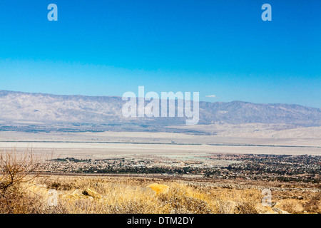 Palm Springs California from the road to the Aerial Tramway - Stock Photo