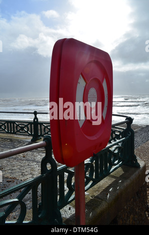 Safety ring on seafront. - Stock Photo