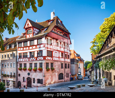 Nuremberg, Germany at the historic Albrecht Durer House. - Stock Photo