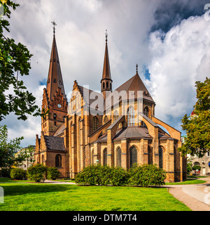 Church of Saint Peter in Malmo, Sweden. - Stock Photo