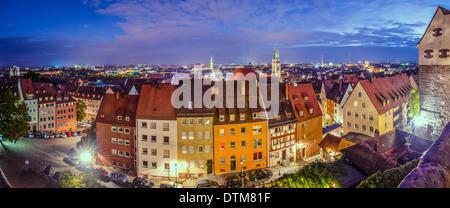 Nuremberg, Germany old city panorama. - Stock Photo