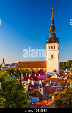 Tallinn, Estonia old city view. - Stock Photo