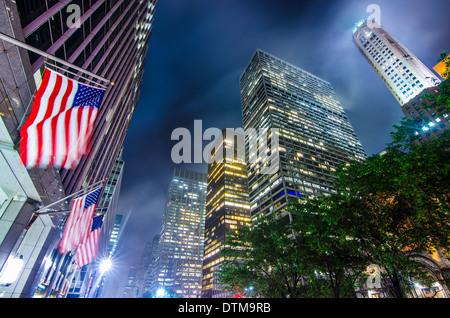 New York City midtown office buidings. - Stock Photo