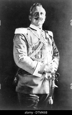 Wilhelm II or William II was the last German Emperor, Kaiser, and King of Prussia - Stock Photo