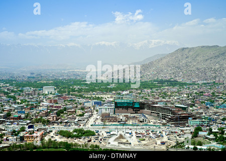 Overview of Kabul, Afghanistan - Stock Photo