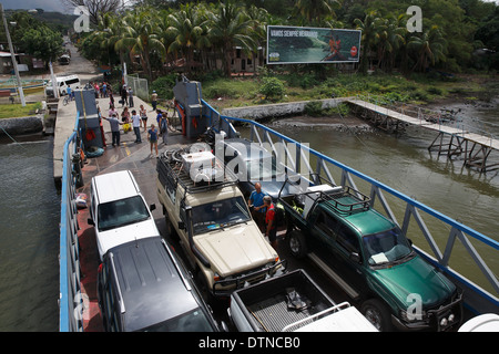 The car ferry from Moyogalpa , Ometepe Island, Nicaragua - Stock Photo