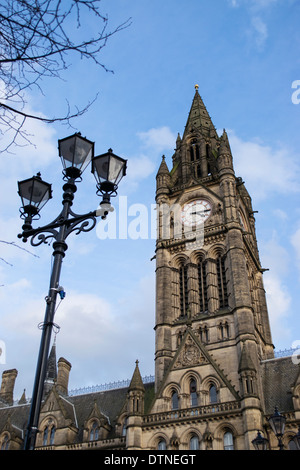 Manchester town hall in Albert Square, England, UK - Stock Photo