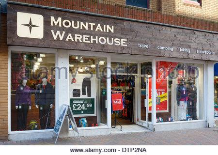 Mountain Warehouse outdoor clothing & equipment store, Weymouth, Dorset, England - Stock Photo