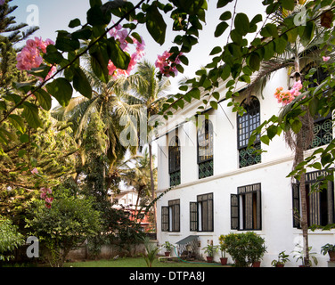 India, Goa, Siolim House, heritage accommodation converted from Portuguese colonial era mansion - Stock Photo