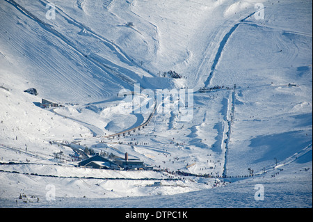 The Lower Cairngorm Ski ground round the White Lady and Gun barrel runs. SCO 9013 - Stock Photo