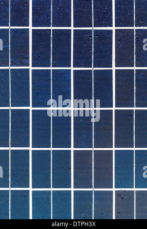 Cells on photovoltaic solar panel - Stock Photo