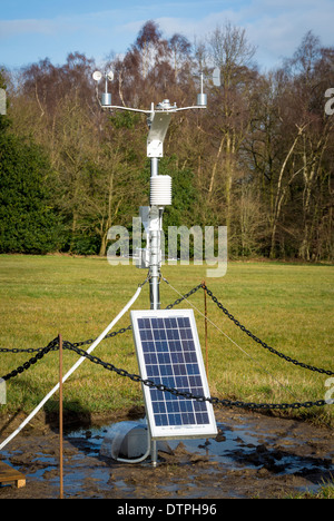 Small portable solar powered weather station - Stock Photo