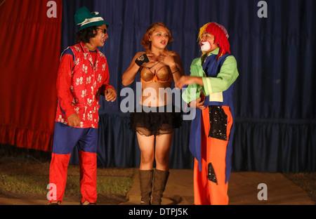 Traveling circus performers, Mechapa, Nicaragua - Stock Photo