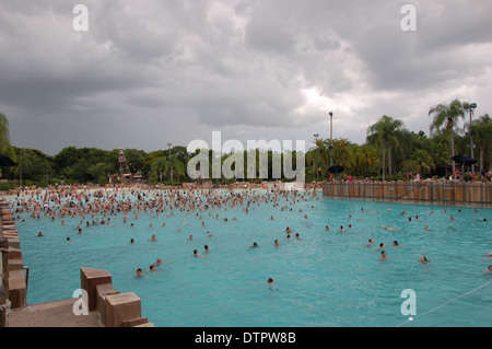 Holiday Makers Enjoy The Swimming Pool At The Sun Centre
