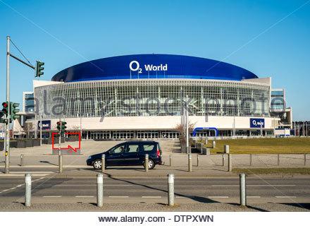 O2 World arena stadium in Berlin Germany - Stock Photo