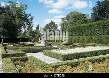 The Queen's Garden at Kew Palace, Royal Botanic Gardens, Kew, England - Stock Photo
