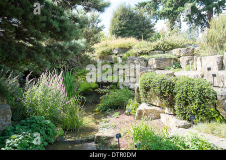 The Rock Garden, Kew Royal Botanic Gardens, England - Stock Photo