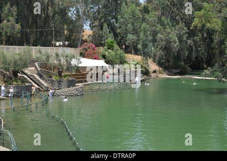 Israel, Yardenit Baptismal Site In the Jordan River Near the Sea of Galilee, - Stock Photo