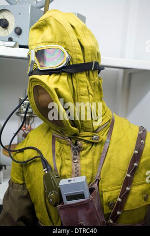 Cold War Era Radiation Suit - Stock Photo