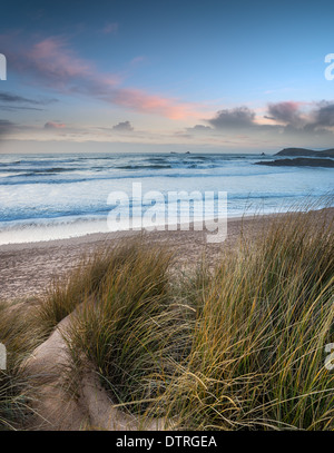 Constantine Bay near Padstow on the Atlantic coast of Cornwall - Stock Photo