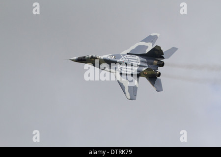 Mikoyan MiG-29A Fulcrum in flight - Stock Photo