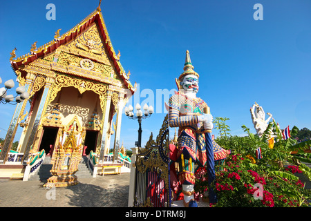 Wat Plai Laem Temple, Koh Samui, Thailand - Stock Photo
