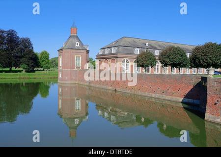 Moated Castle Nordkirchen, North Rhine-Westphalia, Germany - Stock Photo