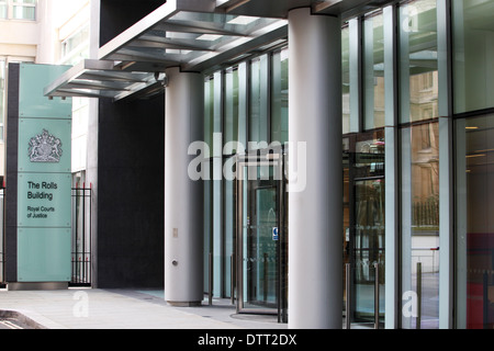 The Rolls Building, a court complex in London that is used by the High Court of Justice. - Stock Photo