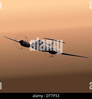 Civil utility aircraft - Stock Photo