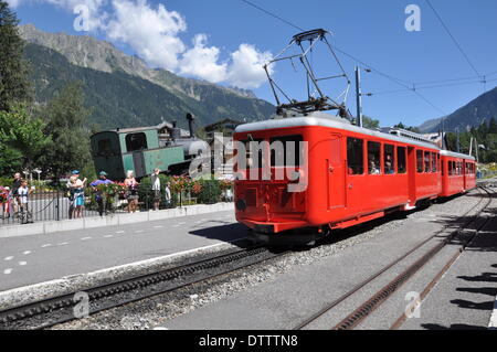 chemin de fer du montenvers,chamonix,france - Stock Photo