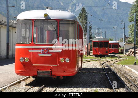 montenvers railway,chamonix,france - Stock Photo