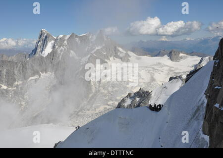 Mont-Blanc-Massiv,France - Stock Photo