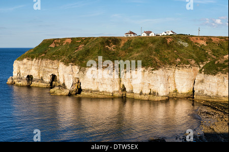 A summer evening at Thornwick Bay, Flamborough - Stock Photo
