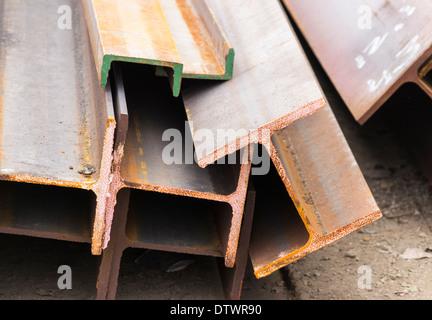 H Steel Beams - Stock Photo