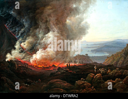 Vesuvius ( Vulcan ) volcanic eruption 1826  Dahl Johan Christian Clausen,1788-1857 German Germany - Stock Photo