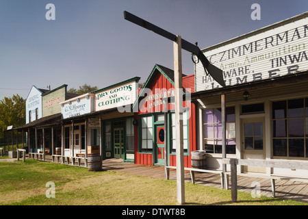 USA, Kansas, Dodge City, Boot Hill Museum exterior - Stock Photo