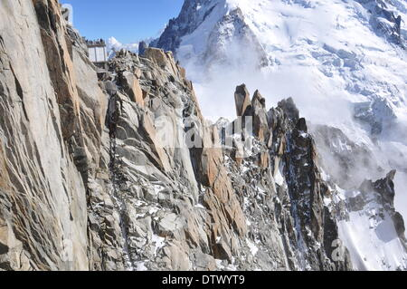 mont-blanc-massiv,french alps - Stock Photo