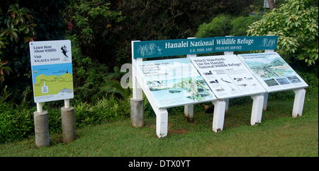 hanalei national wildlife refuge,kauai,hawaii - Stock Photo