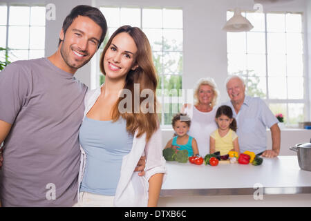 Parents in front of their family - Stock Photo