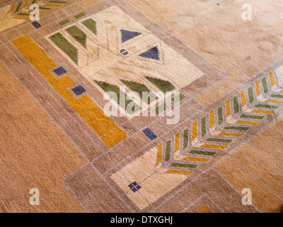 Detail from living room carpet design in FLW's Meyer May House. Familiar Wright design motifs figure in the livingroom - Stock Photo