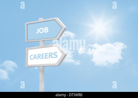 Job and careers road sign - Stock Photo