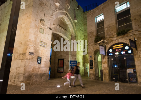 The Jaffa Gate seen from inside th Old City. Jerusalem. Israel. - Stock Photo
