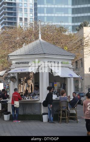 Israel, Tel Aviv, Rothschild Boulevard - Stock Photo