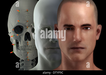 Facial Reconstruction - Stock Photo